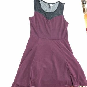 H&M Purple Skater Dress